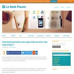 Copie d'écran d'un site web entier
