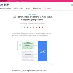 SEO : comment se préparer à la mise à jour Google Page Experience