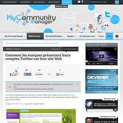 Comment les marques présentent leurs comptes Twitter
