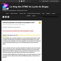 Comment présenter son étude et son projet à l'oral ? - Le blog des STMG du Lycée du Bugey