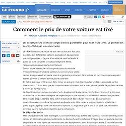 Sociétés françaises : Comment le prix de votre voiture est fixé