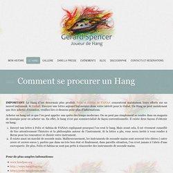 Comment se procurer un Hang « Gérard Spencer - Hang Player