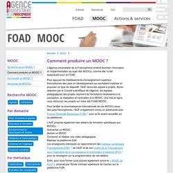 Comment produire un MOOC ? FOAD — MOOC - Se former par la FOAD et les MOOCs avec l'AUF