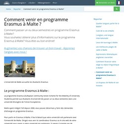 Comment venir en programme Erasmus à Malte?