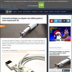 Comment protéger ou réparer vos câbles grâce à votre imprimante 3D