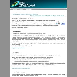 Comment protéger ses oeuvres « Blog Zimbalam France