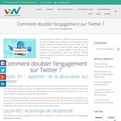 Comment provoquer l'engagement sur Twitter ?