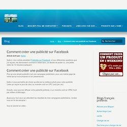 Comment créer une publicité sur Facebook