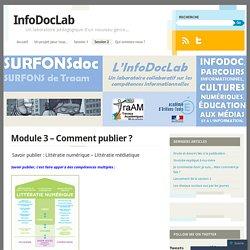 Module 3 – Comment publier ?