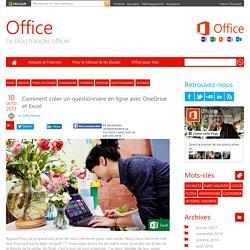 Comment créer un questionnaire en ligne avec OneDrive et Excel