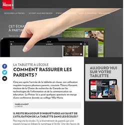 Comment rassurer les parents ?
