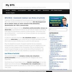 BTS MCO : Comment réaliser ses fiches d'activité