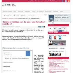 Comment réaliser son CV pour une formation post-bac ? - prepa-HEC.org - ESC, prépa HEC, classements et concours depuis 1999