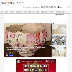 idées comment faire du papier mâché - recette et exemples déco