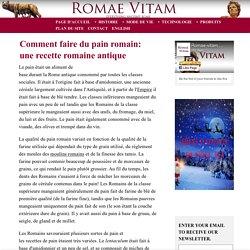 Comment faire du pain romain: une recette romaine antique
