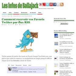 Comment recevoir vos Favoris Twitter par flux RSS