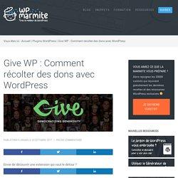 Give WP : Comment récolter des dons avec WordPress