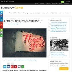 Comment rédiger un édito web?