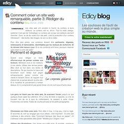 Comment créer un site web remarquable, partie 3: Rédiger du contenu — Edicy blog