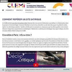 video : Comment repérer un site satirique- CLEMI