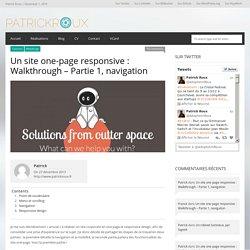 Comment faire un site one page et responsive : première partie