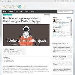 Comment faire un site one page et responsive : quatrième partie