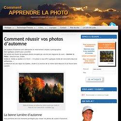 Comment réussir vos photos d'automne