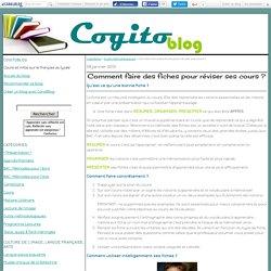 Comment faire des fiches pour réviser ses cours ? - Cogitoblog