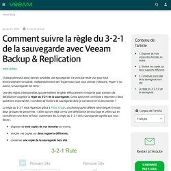 Comment suivre la règle du 3-2-1 de la sauvegarde avec Veeam Backup & Replication