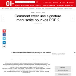 Comment créer une signature manuscrite pour vos PDF ?