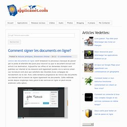 Comment signer les documents en ligne?