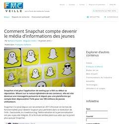 Comment Snapchat compte devenir le média d'informations des jeunes