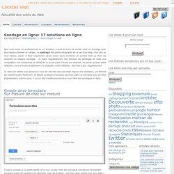 Comment faire un sondage en ligne : 14 solutions de sondage en ligne