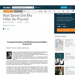 Comment La City Et Wall Street Ont Mis Hitler Au Pouvoir