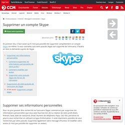 Comment supprimer un compte Skype ?
