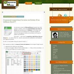 Comment supprimer la mise en forme d'un tableau Excel ?
