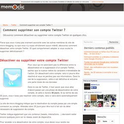 Comment supprimer son compte Twitter ?