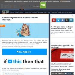 Comment synchroniser MASTODON avec TWITTER