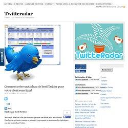 Comment créer un tableau de bord Twitter pour votre client sous Excel