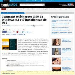 Comment télécharger l'ISO de Windows 8.1 et l'installer sur clé USB