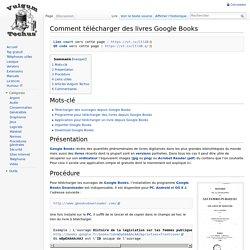 Comment télécharger des livres Google Books - Vulgum Techus