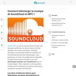 Comment télécharger musique SoundCloud ?