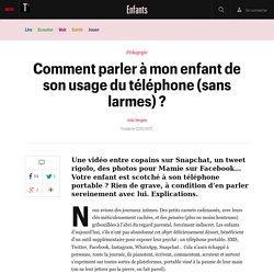Comment parler à mon enfant de son usage du téléphone (sans larmes) ? - Enfants