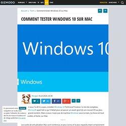 Comment tester Windows 10 sur Mac