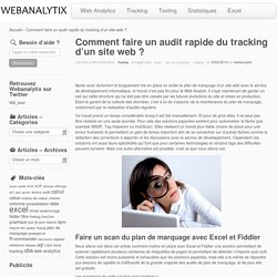 Comment faire un audit rapide du tracking d'un site web ?