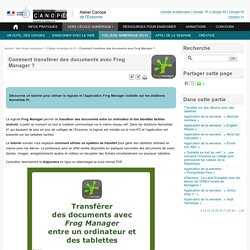 Transférer des docs avec Frog Manager