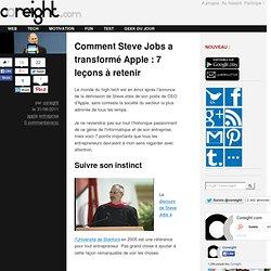 Comment Steve Jobs a transformé Apple : 7 leçons à retenir