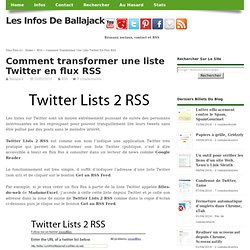Comment transformer une liste Twitter en flux RSS