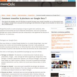 Comment travailler à plusieurs sur Google Docs ?