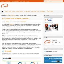 SEO : Comment trouver les Backlinks d'un site web ?